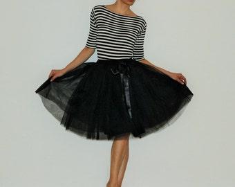 Tulle petticoat Light Black 55 cm skirt