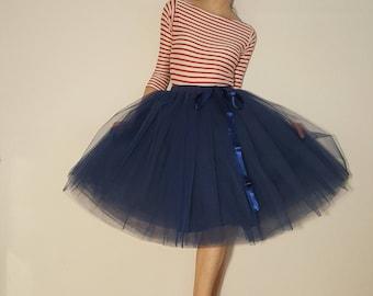 Tulle Petticoat Navy blue 60 cm skirt