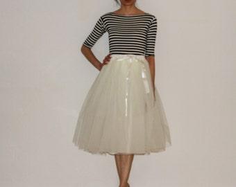 Tulle petticoat Light cream 70 cm skirt