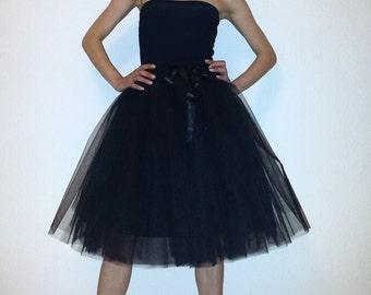 Tulle petticoat Black 60 cm skirt