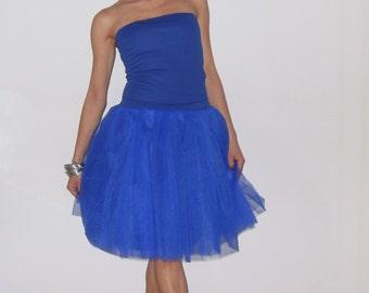 Tulle petticoat Royal blue 55 cm skirt