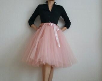 Tulle petticoat old rose 60 cm skirt