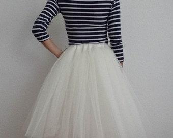 Tulle petticoat Cream 60 cm skirt