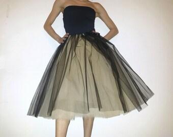 Tulle petticoat Champagne Black 70 CmRocklänge