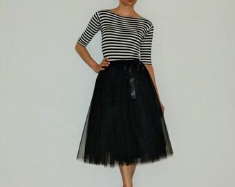 Tulle petticoat Light black 70 cm skirt
