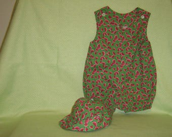 Girls Sunsuit and Hat