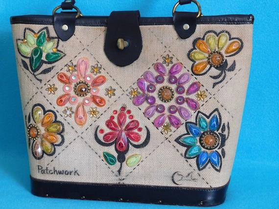Collins Patchwork Handbag - image 2