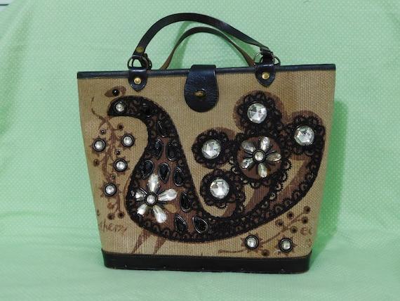 Enid Collins Fine Feathers Handbag