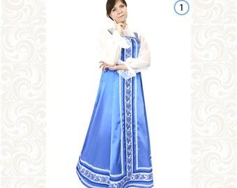 610bb30db13b Robe costume russe, robe de danse et de chant collectifs d art,  représentation théâtrale, vêtements de fête, Noël, Plus le costume de taille