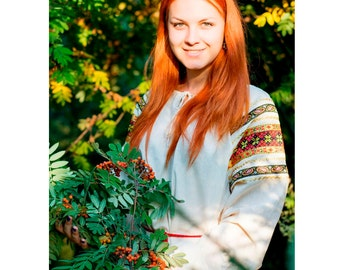 Russian traditional dress for girl, womеn, Russian folklore costume Yara, Peasant costume, Slavic dress, Linen dress, Plus size