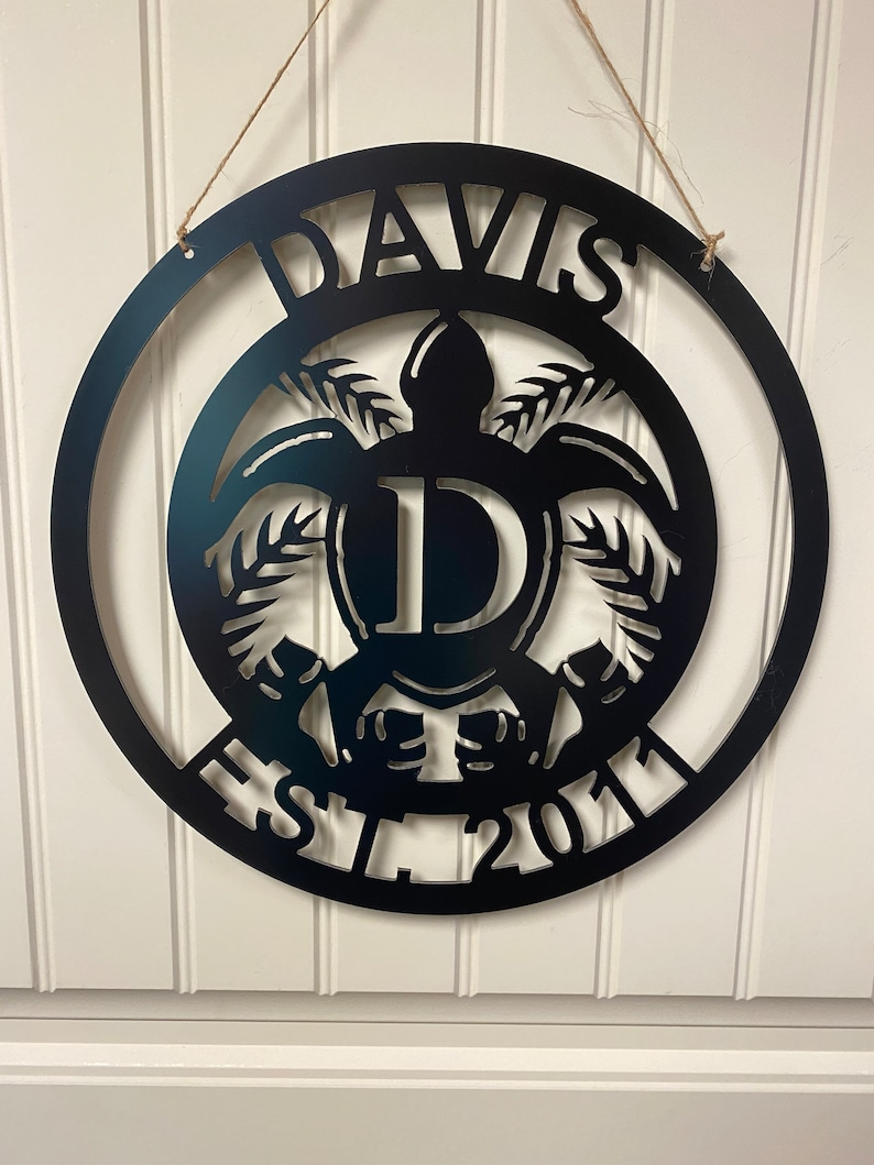 Personalized Sea Turtle Home Sign
