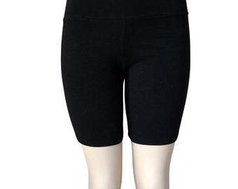 784f219805 Women ultra soft gym bike yoga high waist fold over shorts