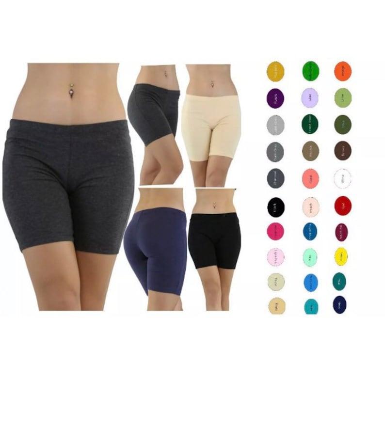 829522d237 Women cotton spandex gym bike yoga low rise shorts | Etsy