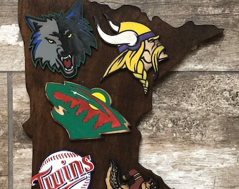 cheap for discount e9be8 c195f Minnesota Sports sign - solid wood - hand painted - ready to hang - BEST  SELLER