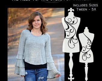 The RuLo Top and Dress PDF Sewing Pattern