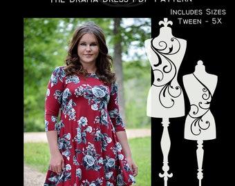 The Drama Dress PDF Sewing Pattern