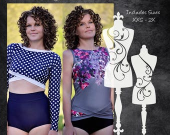 The Daybreak Rash Guard (Women's Sizes) PDF Sewing Pattern