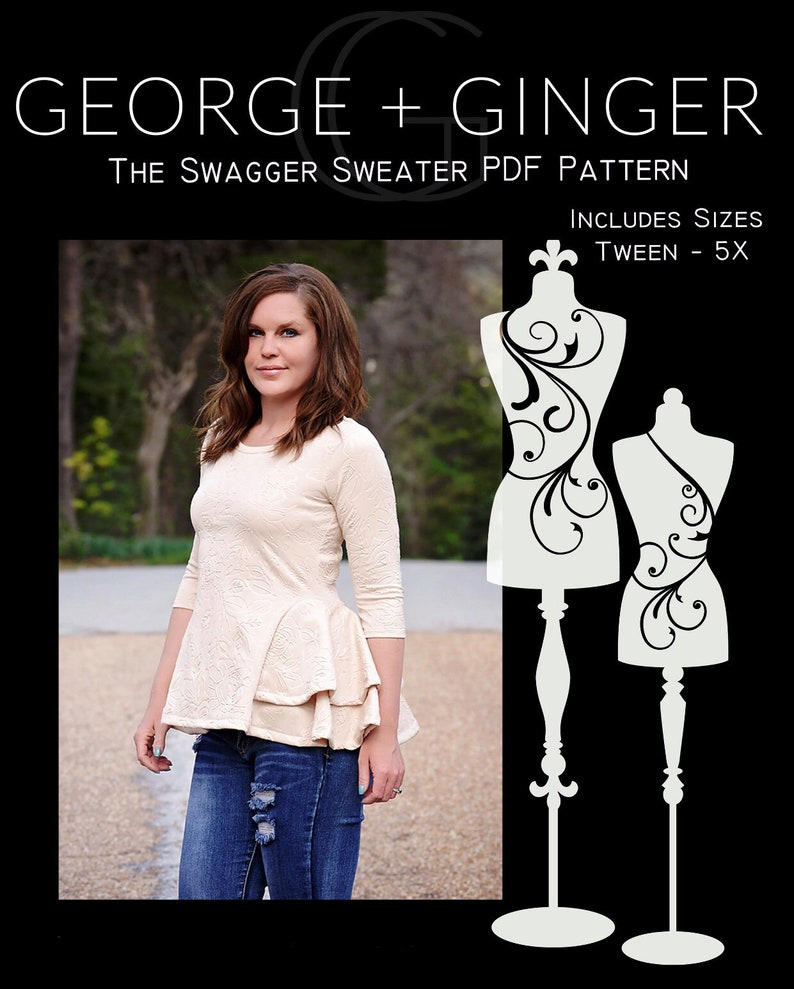 The Swagger Sweater PDF Sewing Pattern image 0