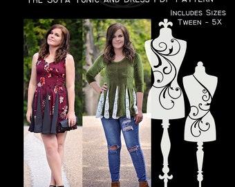 The SoTa Tunic and Dress PDF Sewing Pattern