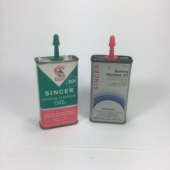 Singer Sewing Machine Oil Tin