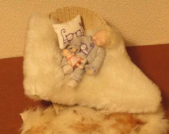 OOAK Miniature Toddler 1:12 scale Doll Artist Handmade