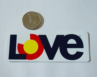 Colorado Love Sticker | FREE SHIPPING! | Rectangle, White | Proceeds Donated to a Family in Need | Colorado Love Stickers