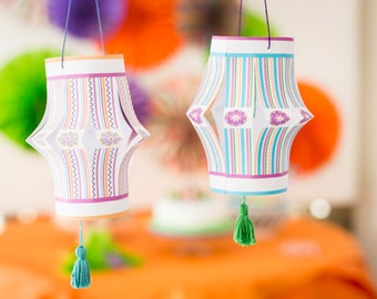 Paper Chinese Lanterns - PDF - DIY Party Decoration - Origami - Direct Download