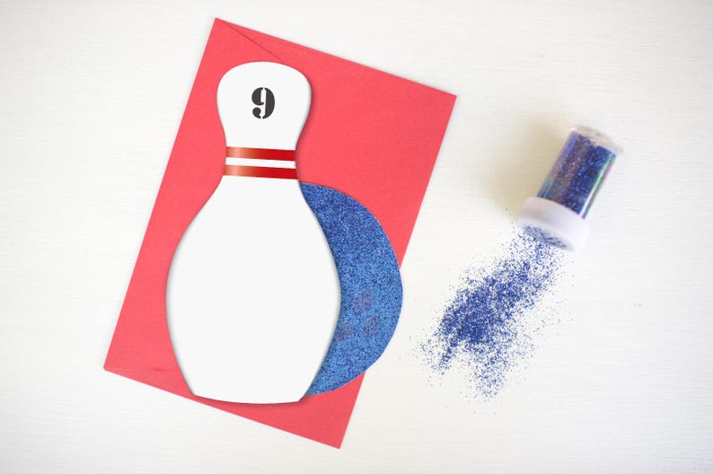 image regarding Bowling Pin Printable called Bowling Pin Invitation - Do it yourself Customisable Card. Printable w/ PDF Guidelines