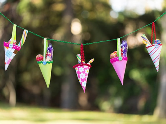 Templates To Make Fabric Party Cones Candy Cone Template And Etsy