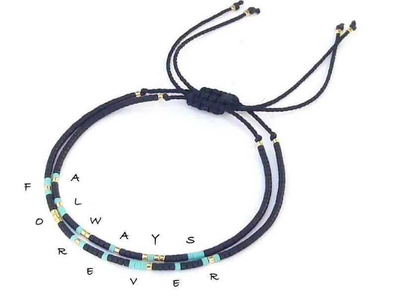 73b4356ce2 Always Forever Morse Code bracelets Always Forever bracelets   Etsy