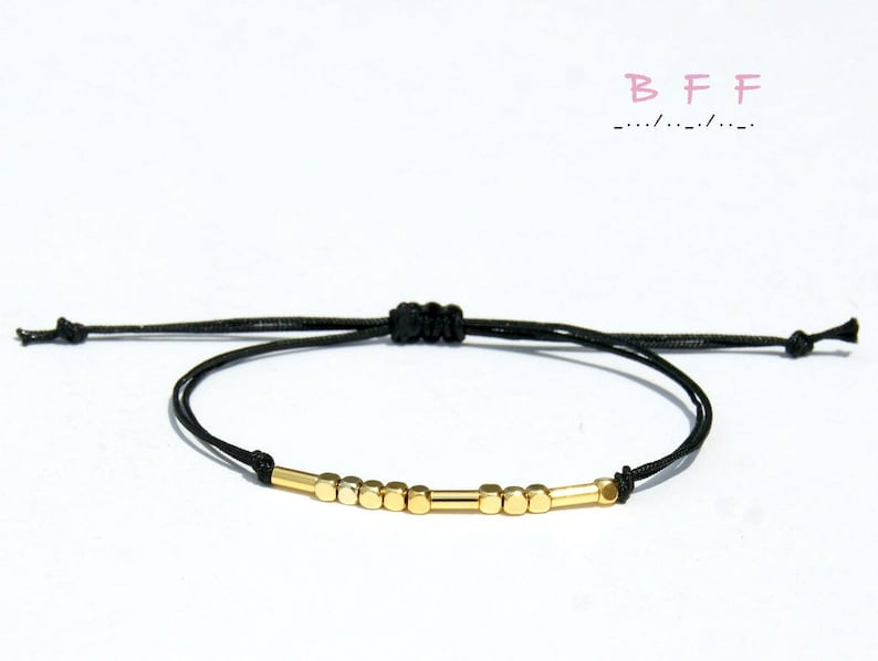 Morse code bracelet best friend Matching best friends bracelets gift for bff bracelet for 2  Valentines day gift for best friend