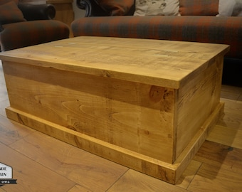 Storage Coffee TableWood Chest Rough Sawn Rustic Pine Ft Etsy - 3ft coffee table