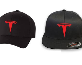 TESLA Auto Model 3 Model S Electric Car Flex Fit Hat Embroidery Free  Shipping 9c794a97793