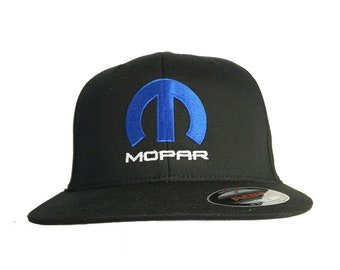 035bc9af576 Mopar Hat Cap Fited Flexfit Black Color Embroidered Front + Free Bumper  Sticker