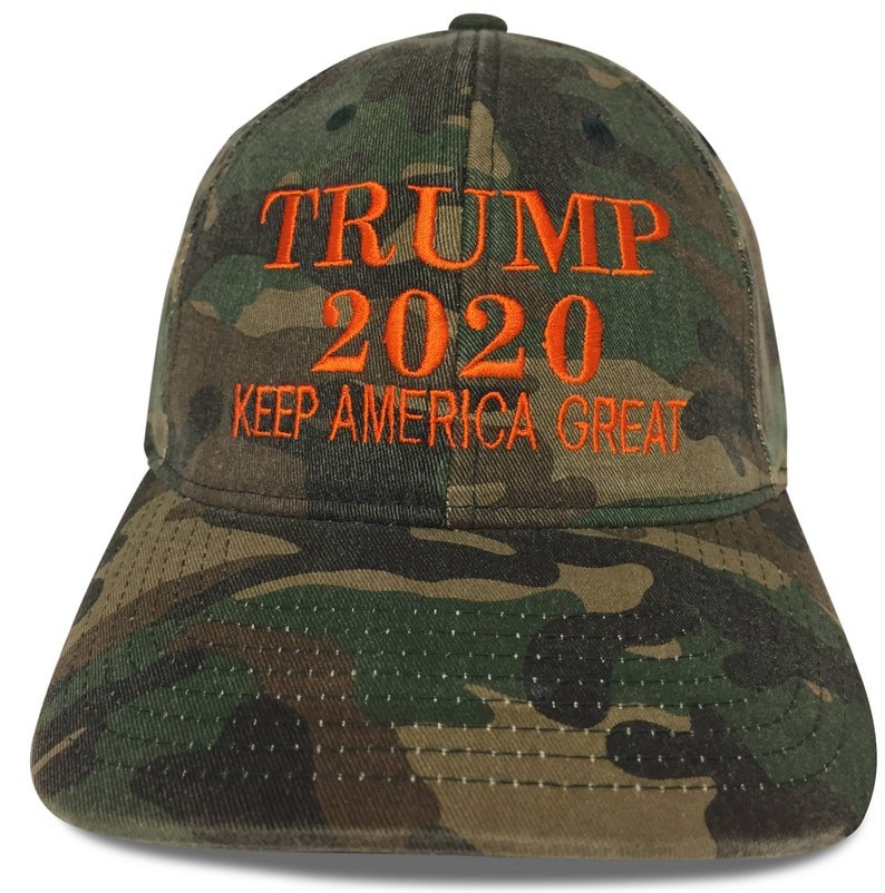 67c2e702889 2020 Trump Hat Cap 100% Cotton Embroidery FlexFit Camo Hat