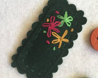 Dark green lovely snap hair clip kid and adult