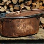 Pot roast large Tin plate handmade copper