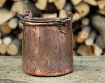 Handmade copper pot Pan rack