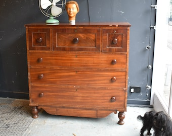 19th Century Scottish mahogany chest of drawers Antique