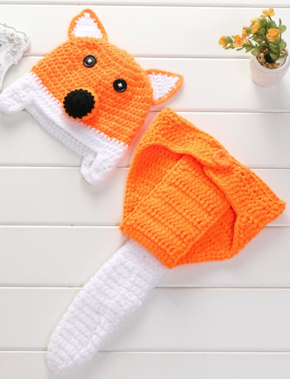 Fox Photography Props Baby Fox Clothes Caps With Tails Infant Etsy