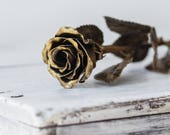 Handmade Metal Rose The Perfect Gift. Steel Rose (Gold)