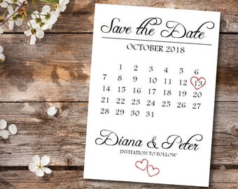 on sale printable save the date calendar postcard templatewedding save the date carddigital downloadsave the date announcement template