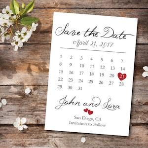 Save the Date Calendar TemplateSave the Date Postcard PrintableSave the Date AnnouncementSave the Date Card PrintableInstant Download