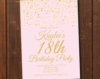 18th birthday invitations etsy .