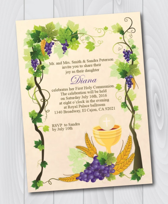 printable first holy communion invitation e card first holy etsy
