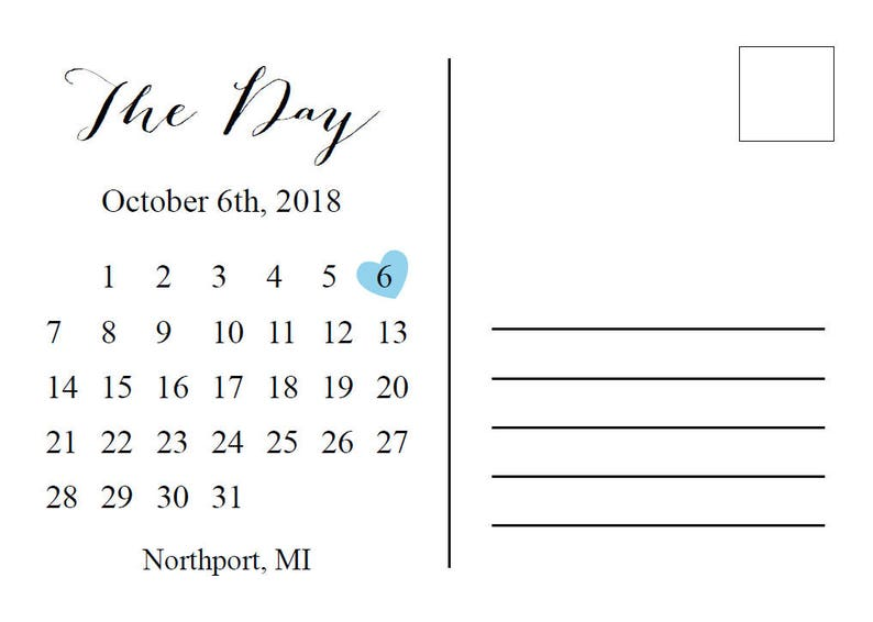 State Map Save the Date AnnouncementAny State Save the Date Postcard PrintablePrintable Map Location Save the Date CardMark the Date