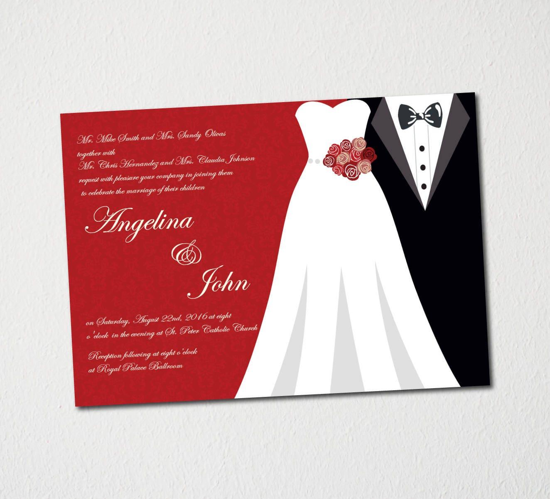 Wedding Invitation Printable Template/Printable Wedding | Etsy