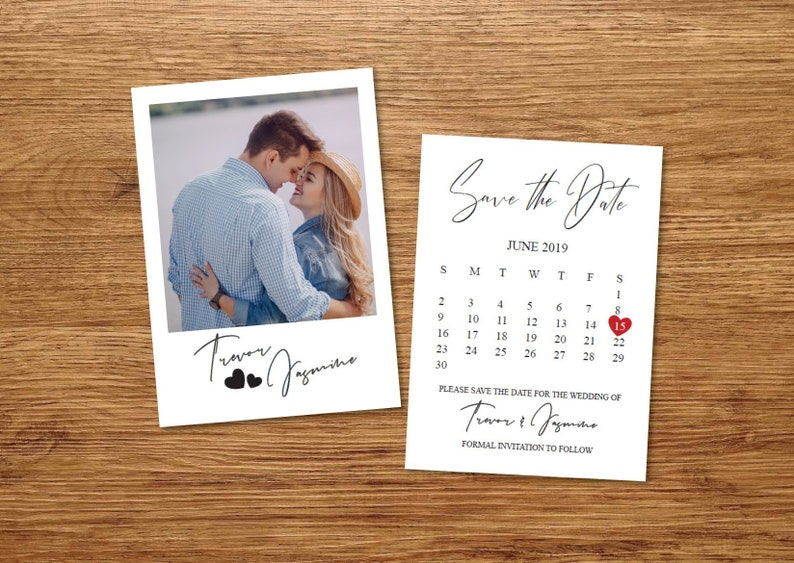 Printed or Printable Polaroid Photo Save the Date PostcardsSave our Date AnnouncementPrintable Save the Date CalendarSave the Date Cards