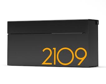 Louis B -modern wall mounted mailbox , Vsons Design Original , American aluminum black powder coated - wall mounted mailbox