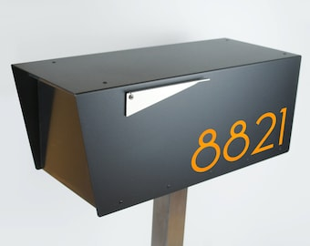 modern mailbox dwell. Plain Modern The Black Minimalist  ANTHONY B Modern Mailbox Contemporary  Midcentury Post Mounted Locking Option Mount Curbside And Mailbox Dwell O